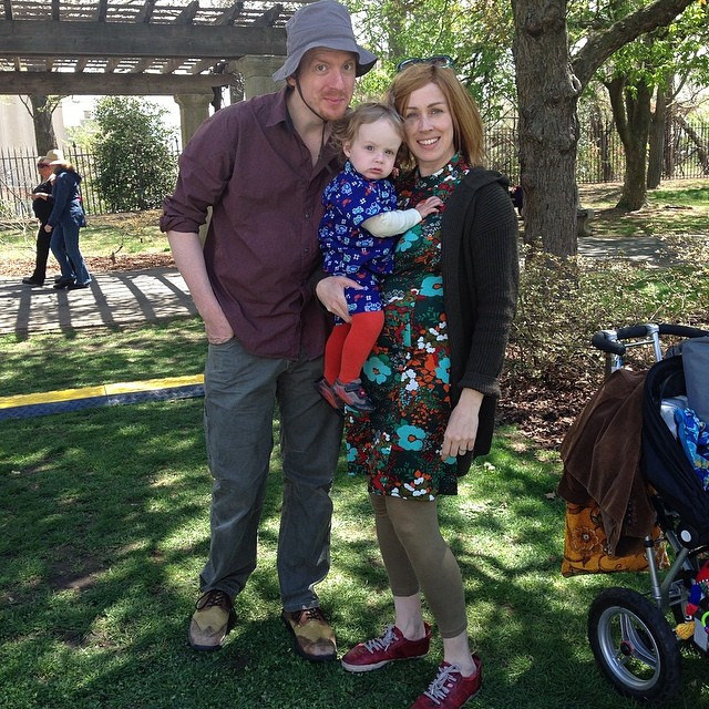 Me, Anna and Milo at the Brooklyn Botanic Garden