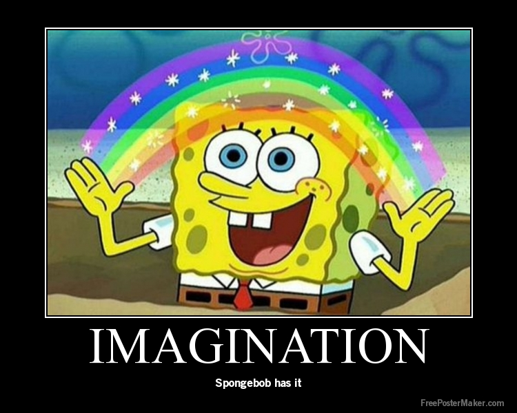 spongebob imagination rainbow MEMEs
