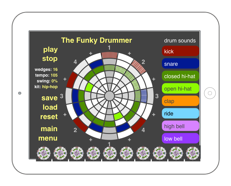 """Funky Drummer"" lesson without text boxes"