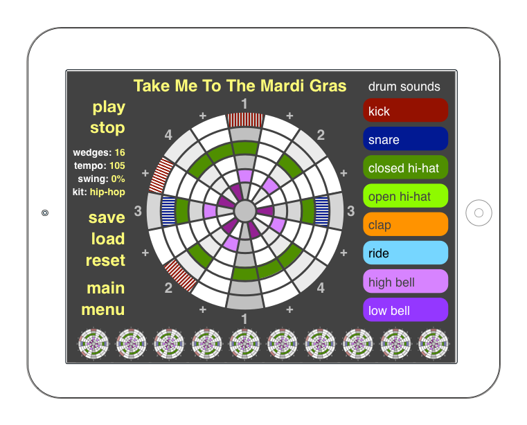 """Take Me to the Mardi Gras"" lesson without text boxes"