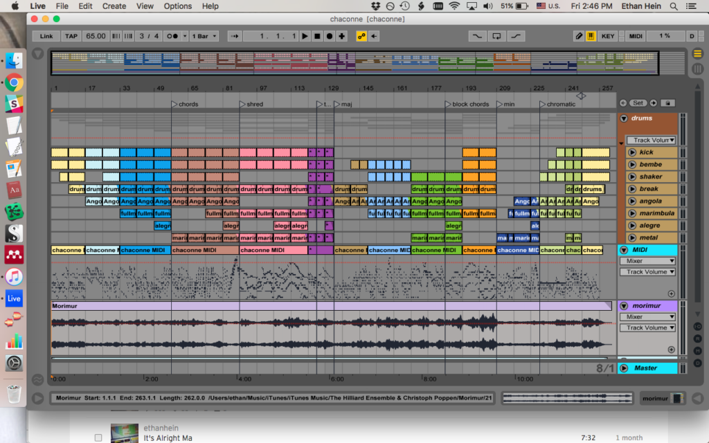 Teaching myself the Bach chaconne with Ableton Live   The